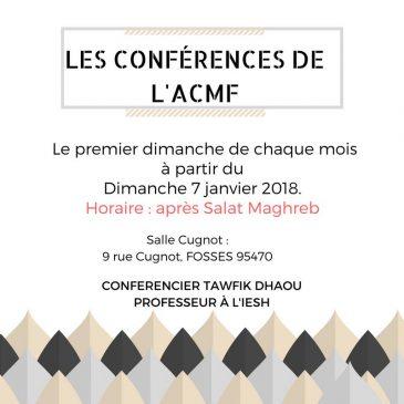 Conférences de l'ACMF